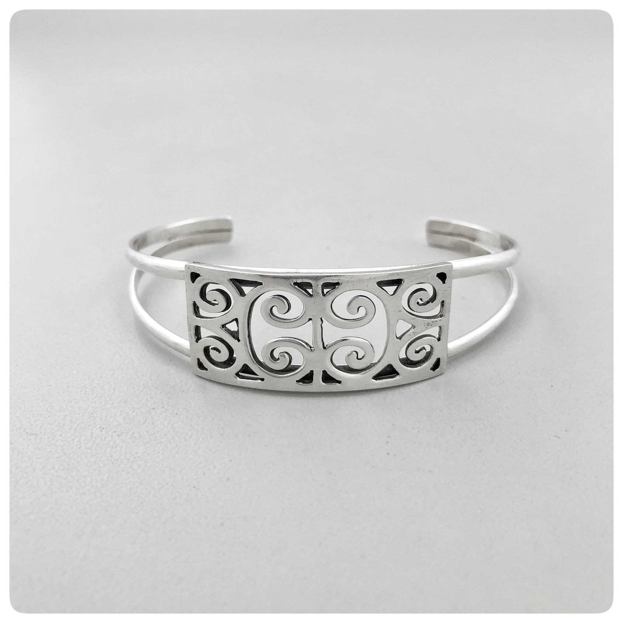 "Sterling Silver Split Cuff Bracelet, ""First Scots Presbyterian Church"" Collection, G2 Silver, Charleston, SC, New - The Silver Vault of Charleston"