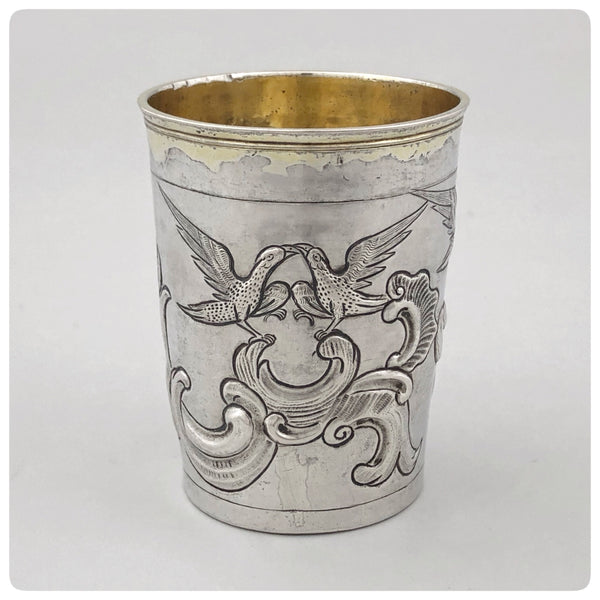 Russian Solid Silver and Vermeil Beaker, Alderman Alksei Kosiurev, Moscow, 1785 - The Silver Vault of Charleston