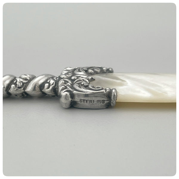 Mark, Sterling Silver and Mother of Pearl Letter Opener, Late 19th or Early 20th Century - The Silver Vault of Charleston