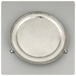 Coin Silver Salver, William Carrington and Company, Charleston, SC and Eoff and Shepard, New York, NY, 1852-1861 - The Silver Vault of Charleston