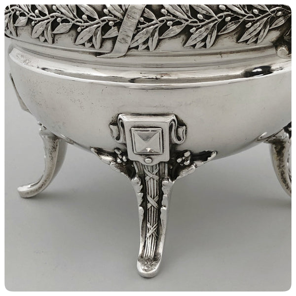 First Standard (950/1000) Solid Silver After Dinner Coffee Pot, Boulenger, Paris, Circa 1875 - The Silver Vault of Charleston
