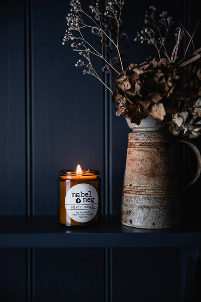beach house soy candle by mabel + meg