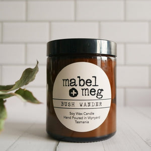 Bush wander classic soy candle by mabel + meg