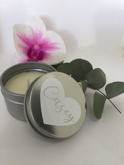Personalized Vanilla Scented Candle