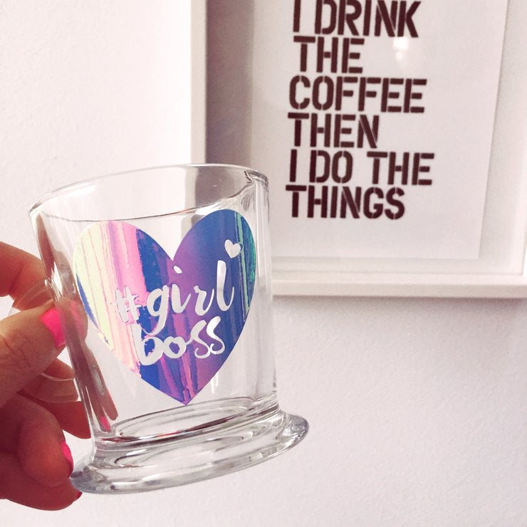 Girl Boss Pearl Print Glass Espresso Mug