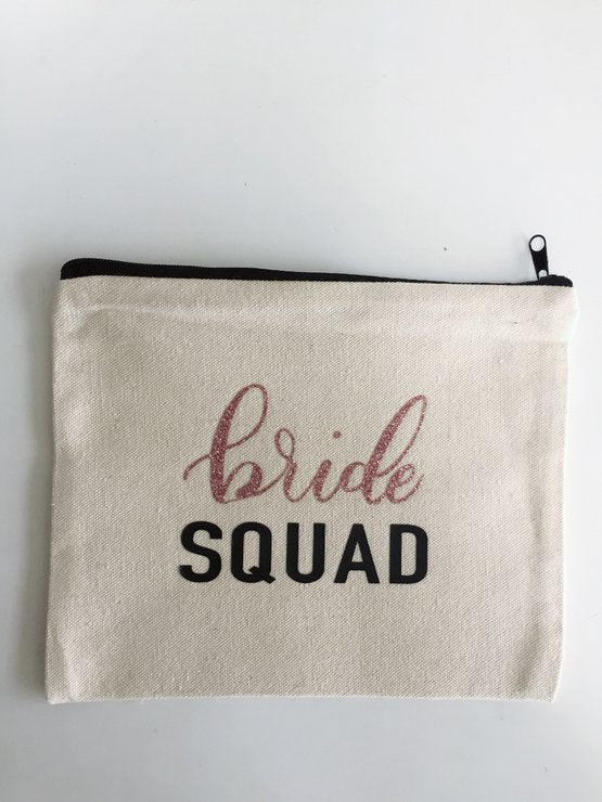 Bride Squad Cotton Make Up Bag