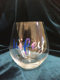 Wifey Stemless Wine Glass