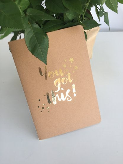 You Got This stitched back Notebook