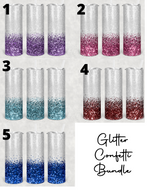 Glitter Collection Tumblers