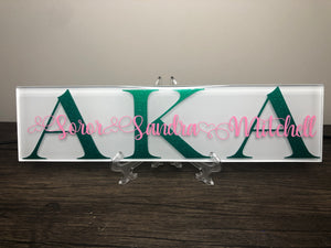 Sorority Plaque