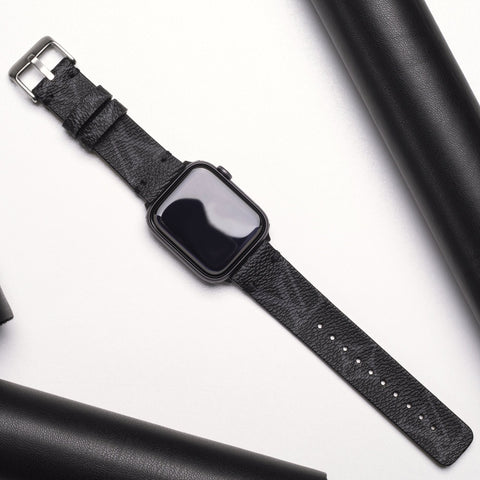 LV Authentic Repurposed Louis Vuitton Black Apple Watch Band