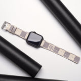 LV Authentic Repurposed Louis Vuitton White Apple Watch Band