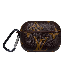LV Authentic Repurposed Louis Vuitton Brown LV AirPods Pro Case