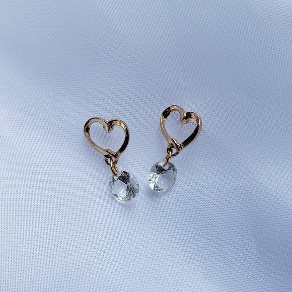 Hearts of Crystal Earrings