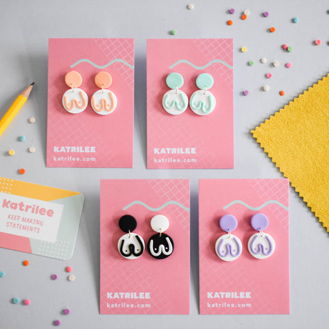 The Mammarlee Dangle Earrings - Pastel Collection - Katrilee