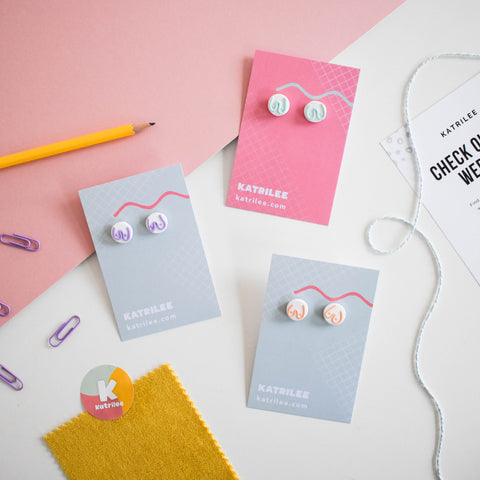 The Mammarlee Boob Stud Earrings - Pastel Collection - Katrilee