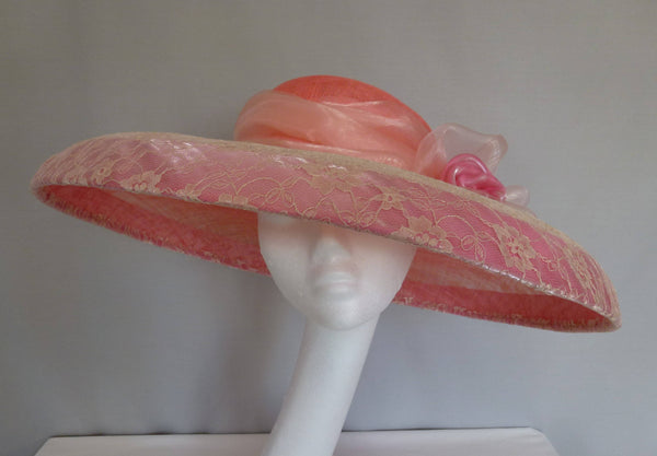 Peach Melba by Carole Bowley Millinery