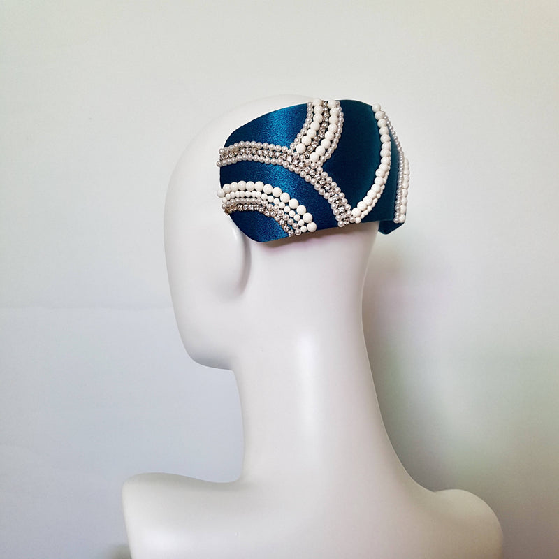 Elizabeth Pearl and Crystal Headpiece