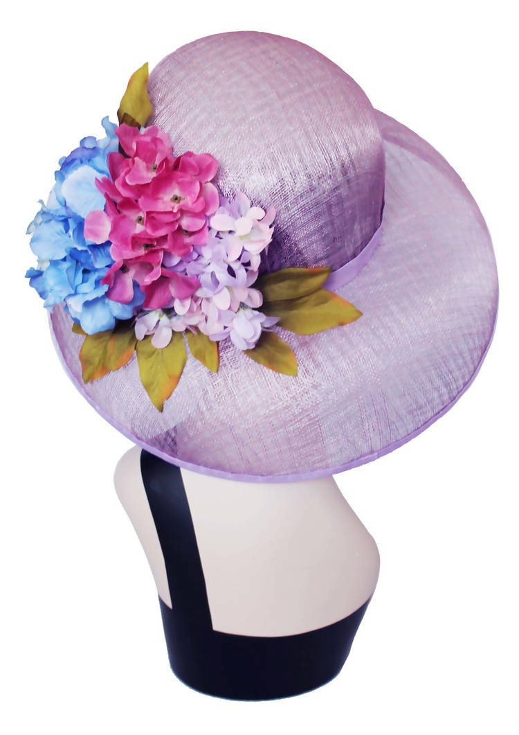 Sweet Alyssum Special Occasion  Pink  Picture Wide Brim Hat
