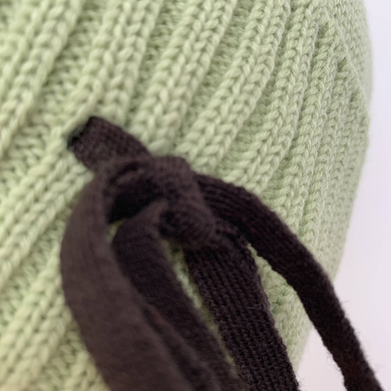 Vintage green wool beanie by Miu Miu made in Italy