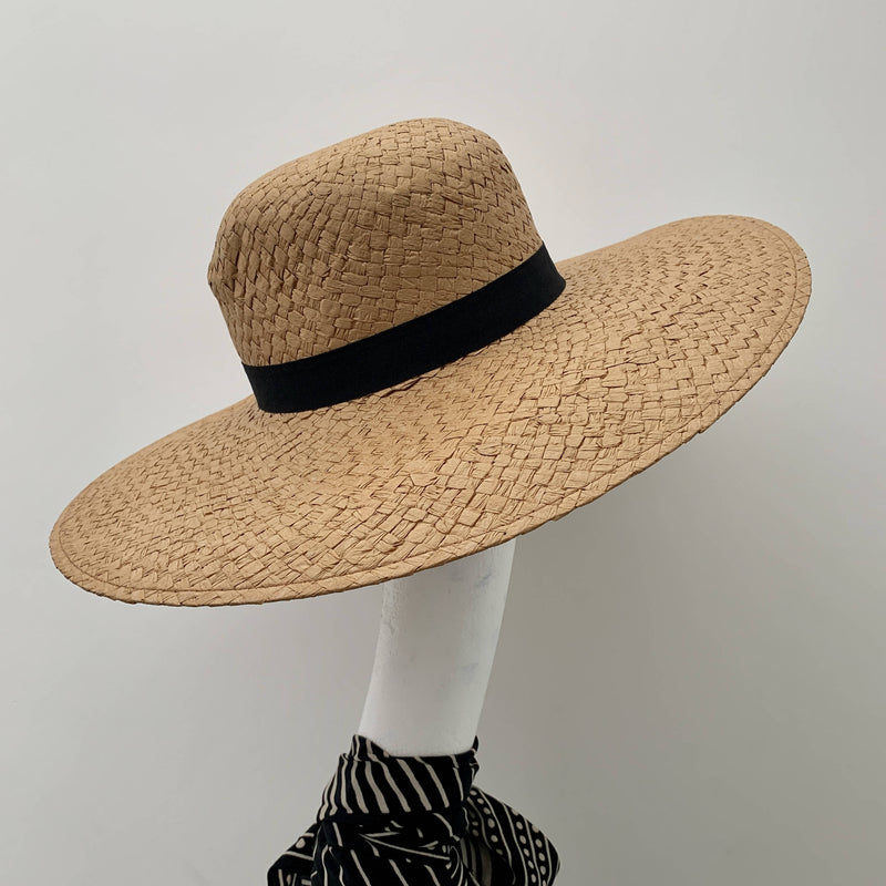 Holiday essential: Ladies straw sun hat floppy wide brim resort beach by Pieces