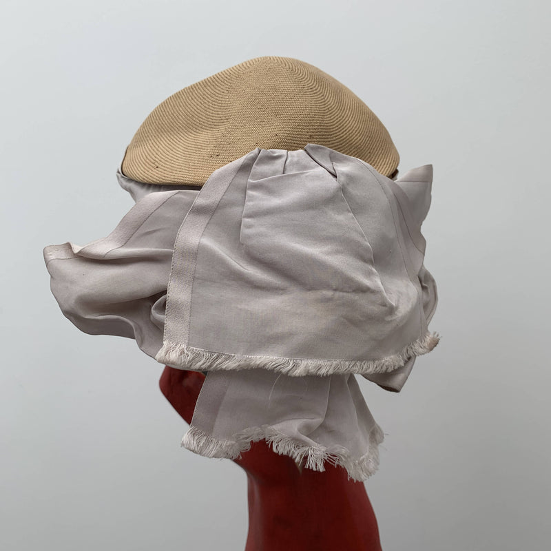 Vintage straw bucket hat by Otto Lucas
