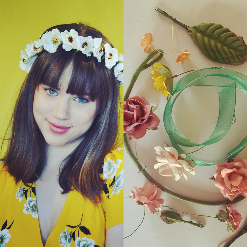DIY floral crown kit or Bridal showers by miss haidee millinery