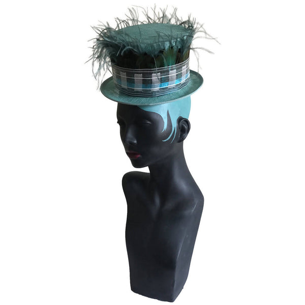 Plum Brandy (Lake Green)  Special Occasion Top Hat