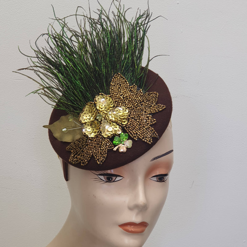 Autumn reeds & rushes winter fascinator