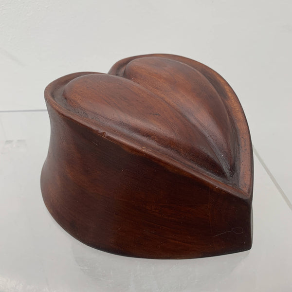 Vintage heart shaped wooden Chimney style perching crown hat block