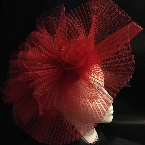 "striking Ruby red statement fascinator. Race day hat, royal ascot, kentucky derby, dubai world cup ""VERONA"""