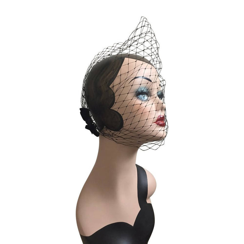 Margaret Special Occasion  Black Hat