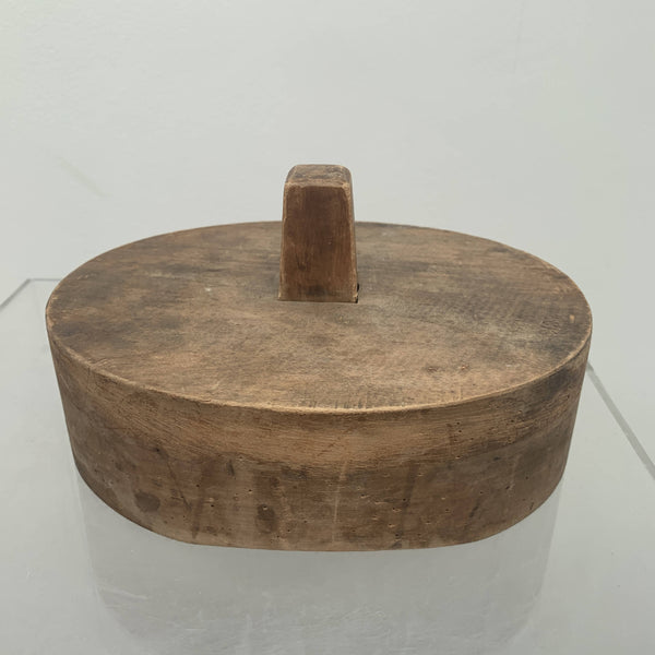 Antique wooden topper attachable hat block
