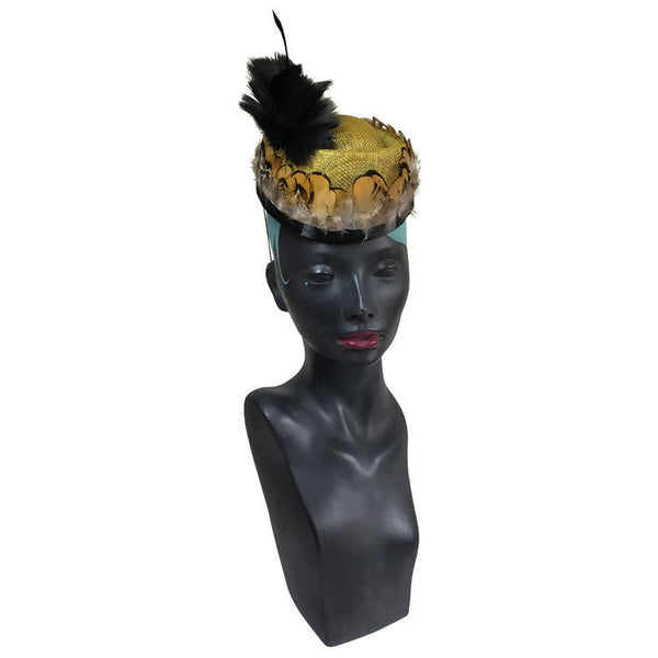 Two Dancers on a Stage (Gold) Fascinator