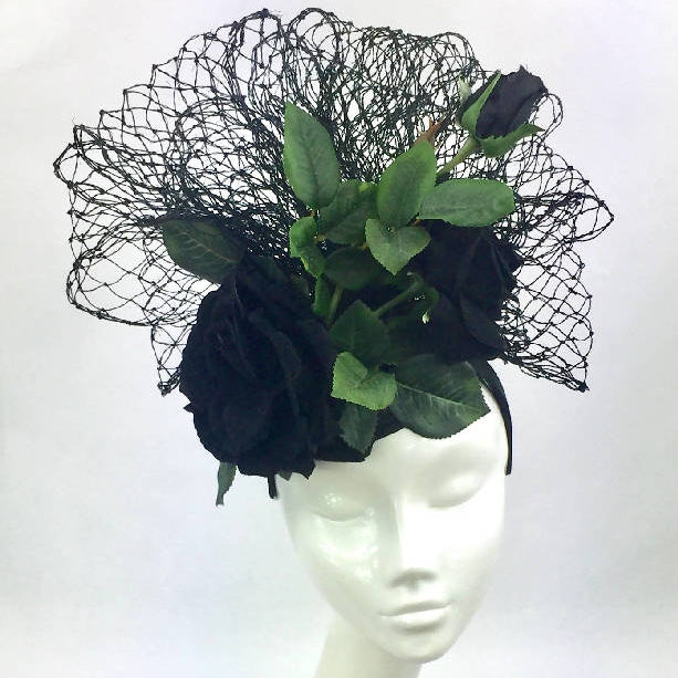 Black Rose Headdress