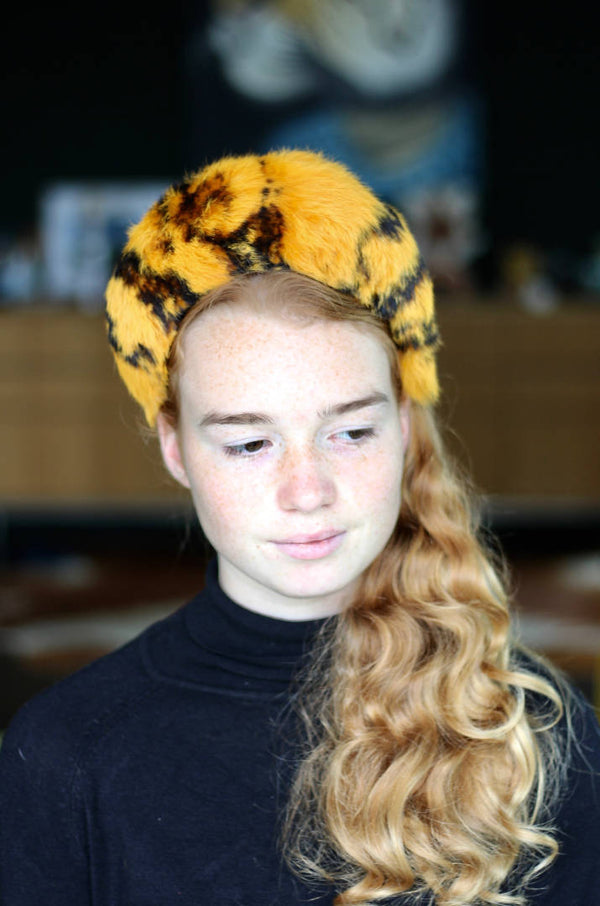 Animal Print Fur Orange Halo Headband