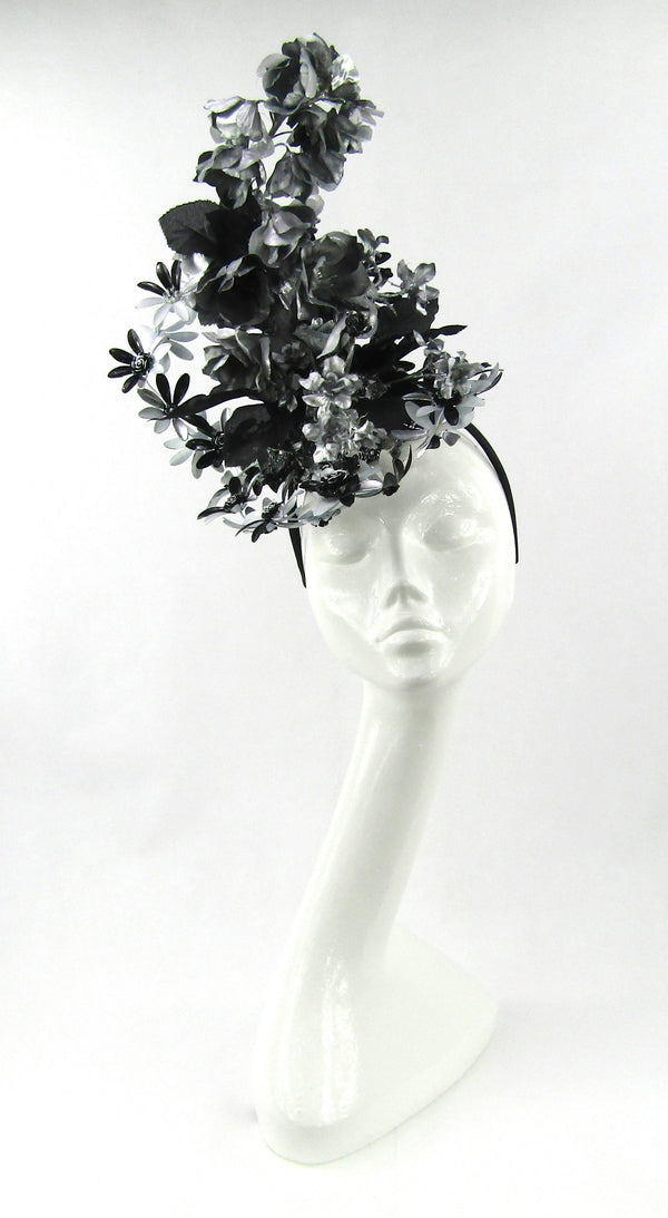 Black and Silver Metal Daisy Headpiece