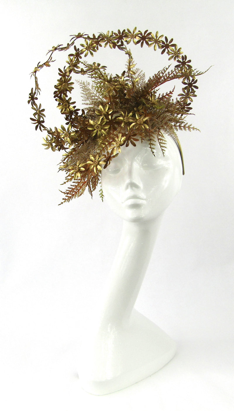 Gold and Copper Metal Daisy Headdress