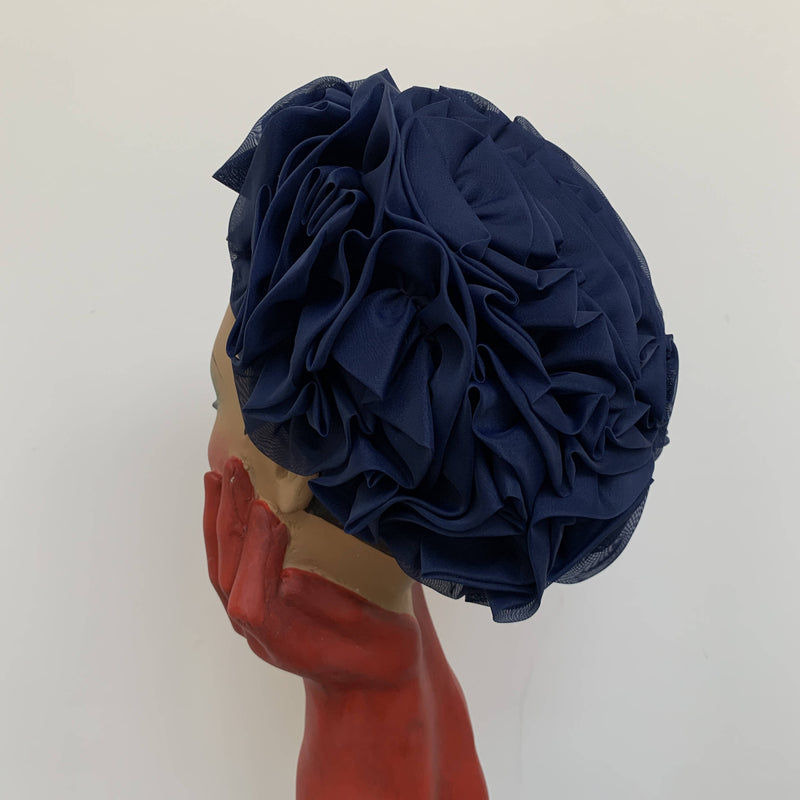 Vintage 90' design blue bonnet hat