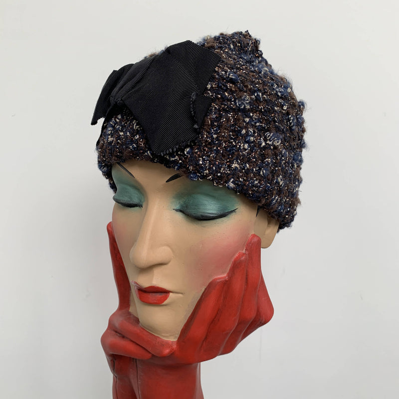Vintage sparkly beanie by Lanvin made in Italy