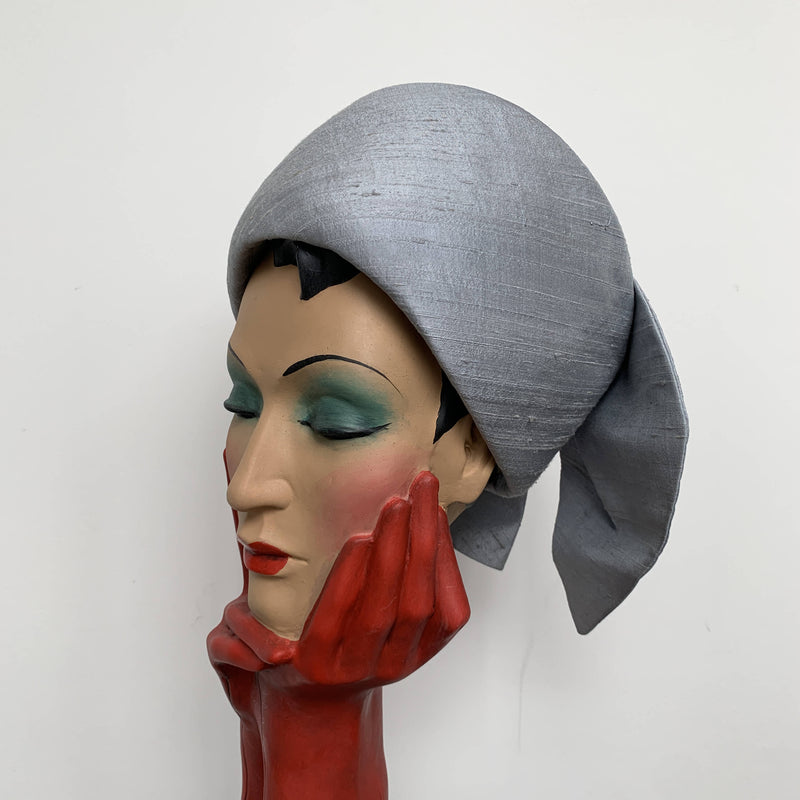 Vintage grey pillbox hat by John Boyd