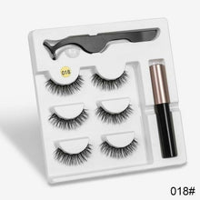 Load image into Gallery viewer, 3 Pairs Magnetic Eyelashes Set w/ Liquid Eyeliner