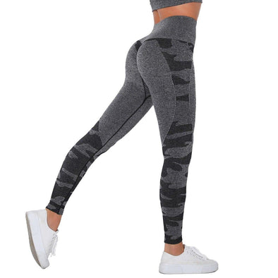 YogaSportWear Black Gray / L Cindy Camo Legging