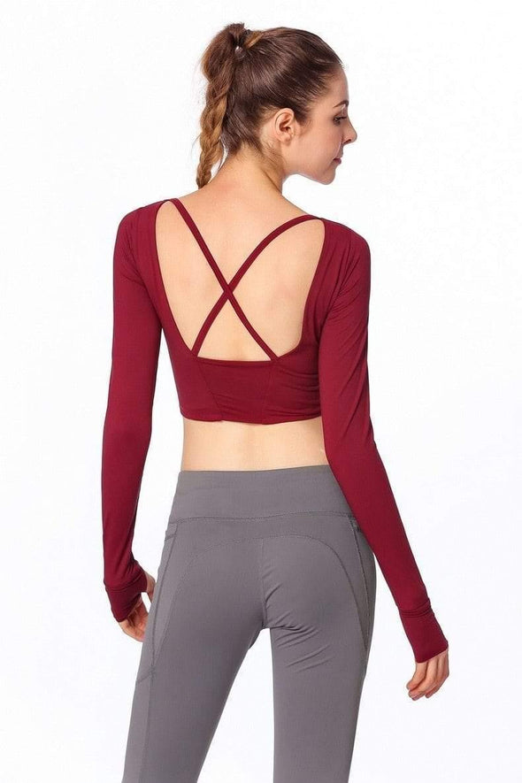 YogaSportWear Gloria Backless Shirt