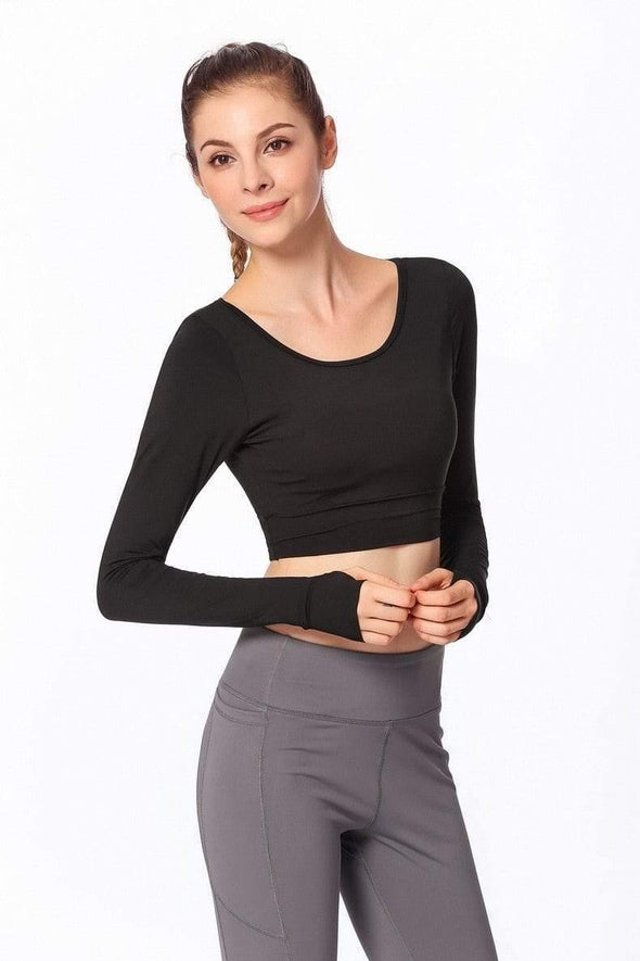 YogaSportWear Black / XL Gloria Backless Shirt