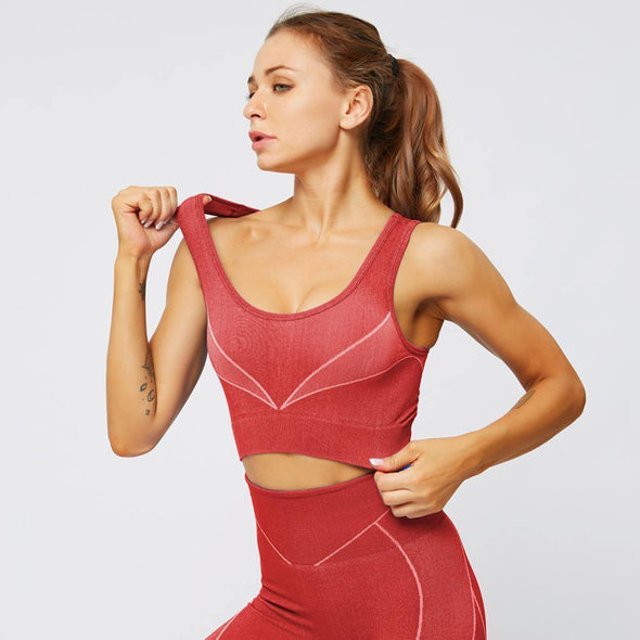 YogaSportWear Red / S Holly Plunge Bra