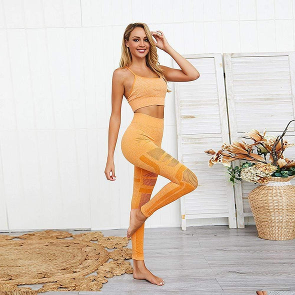 YogaSportWear Gold / S Jamie Point Set