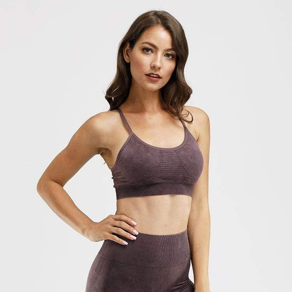 YogaSportWear Tyrian purple / S Kathryn Cross Bra