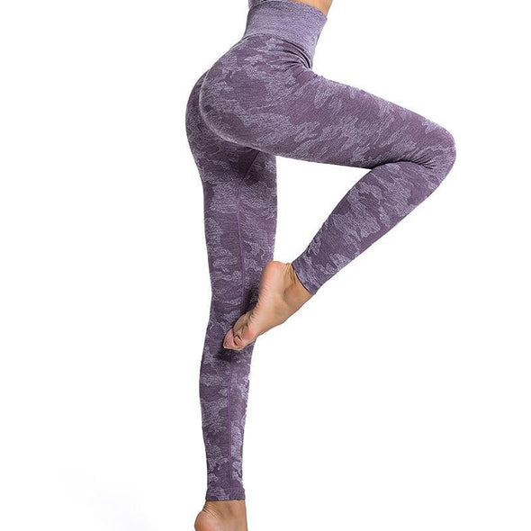 YogaSportWear Purple / S Kristy Camo Legging