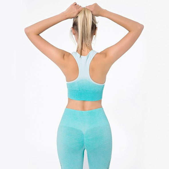 YogaSportWear Electric blue / S Molly Gradient Set